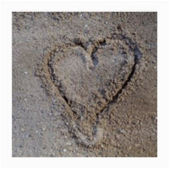 Heart In The Sand Glasses Cloth (medium, Two Sided)