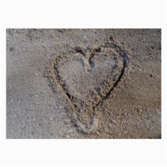 Heart In The Sand Glasses Cloth (large, Two Sided)