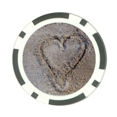 Heart In The Sand Poker Chip
