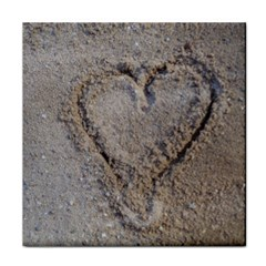 Heart In The Sand Face Towel
