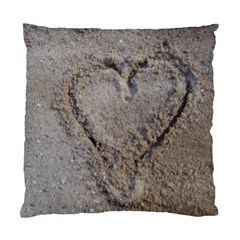 Heart In The Sand Cushion Case (single Sided)