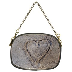 Heart In The Sand Chain Purse (two Sided)