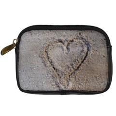 Heart In The Sand Digital Camera Leather Case