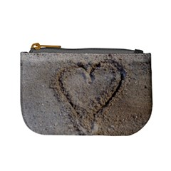 Heart in the sand Coin Change Purse