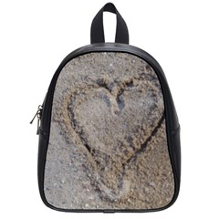 Heart in the sand School Bag (Small)