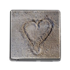 Heart in the sand Memory Card Reader with Storage (Square)