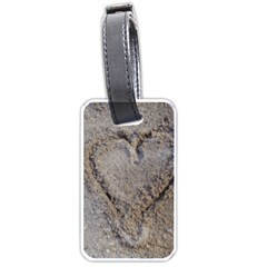 Heart in the sand Luggage Tag (Two Sides)