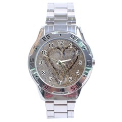 Heart in the sand Stainless Steel Watch