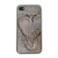 Heart in the sand Apple iPhone 4 Case (Clear)