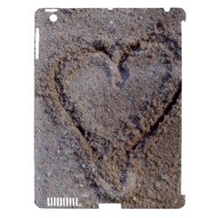 Heart in the sand Apple iPad 3/4 Hardshell Case (Compatible with Smart Cover)