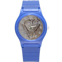 Heart in the sand Plastic Sport Watch (Small)