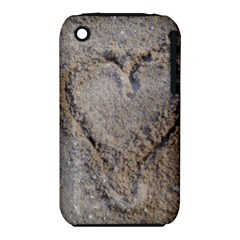 Heart in the sand Apple iPhone 3G/3GS Hardshell Case (PC+Silicone)