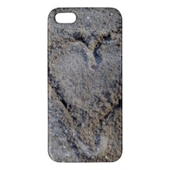 Heart In The Sand Iphone 5s Premium Hardshell Case