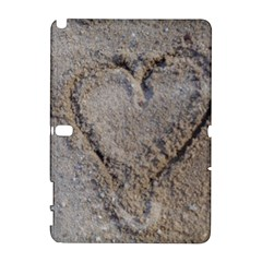 Heart in the sand Samsung Galaxy Note 10.1 (P600) Hardshell Case
