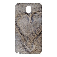 Heart In The Sand Samsung Galaxy Note 3 N9005 Hardshell Back Case