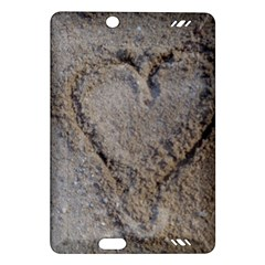 Heart in the sand Kindle Fire HD (2013) Hardshell Case