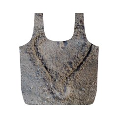 Heart in the sand Reusable Bag (M)