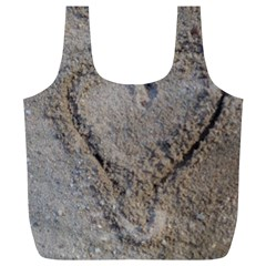 Heart in the sand Reusable Bag (XL)
