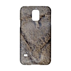 Heart in the sand Samsung Galaxy S5 Hardshell Case
