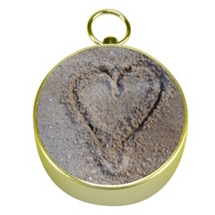 Heart in the sand Gold Compass