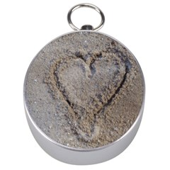 Heart In The Sand Silver Compass