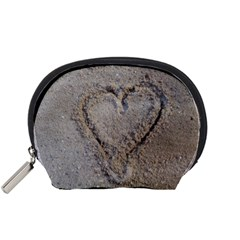Heart In The Sand Accessory Pouch (small)