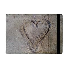 Heart in the sand Apple iPad Mini 2 Flip Case