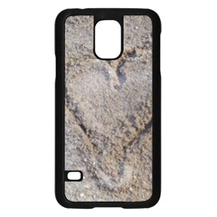 Heart in the sand Samsung Galaxy S5 Case (Black)