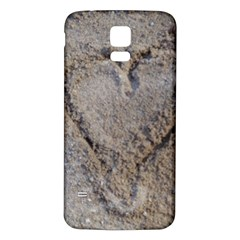Heart In The Sand Samsung Galaxy S5 Back Case (white)