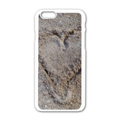 Heart in the sand Apple iPhone 6 White Enamel Case