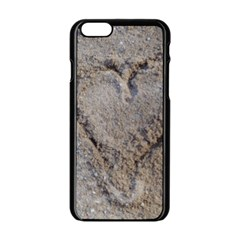 Heart In The Sand Apple Iphone 6 Black Enamel Case