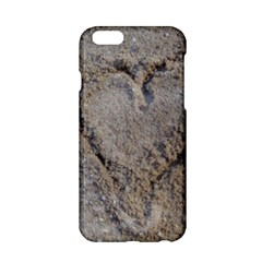 Heart in the sand Apple iPhone 6 Hardshell Case