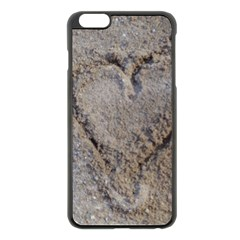 Heart in the sand Apple iPhone 6 Plus Black Enamel Case