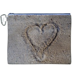 Heart in the sand Canvas Cosmetic Bag (XXXL)