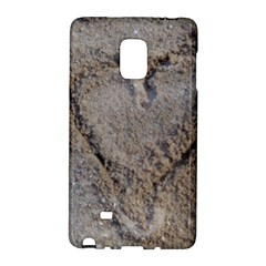 Heart in the sand Samsung Galaxy Note Edge Hardshell Case