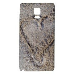 Heart In The Sand Samsung Note 4 Hardshell Back Case