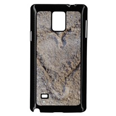 Heart In The Sand Samsung Galaxy Note 4 Case (black)