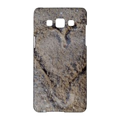Heart in the sand Samsung Galaxy A5 Hardshell Case