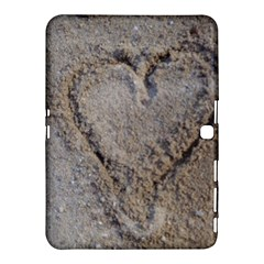 Heart in the sand Samsung Galaxy Tab 4 (10.1 ) Hardshell Case