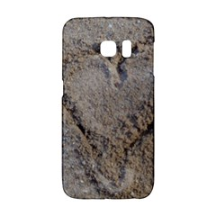 Heart in the sand Samsung Galaxy S6 Edge Hardshell Case
