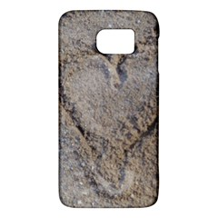 Heart in the sand Samsung Galaxy S6 Hardshell Case