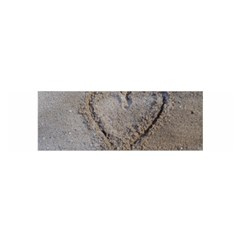 Heart in the sand Satin Scarf (Oblong)