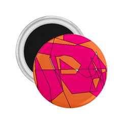 Red Orange 5000 2 25  Button Magnet
