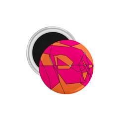 Red Orange 5000 1 75  Button Magnet