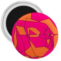 Red Orange 5000 3  Button Magnet