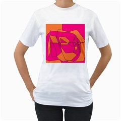 Red Orange 5000 Women s Two Sided T Shirt (white)
