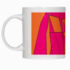 Red Orange 5000 White Coffee Mug