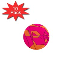 Red Orange 5000 1  Mini Button Magnet (10 Pack)