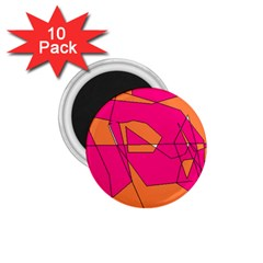 Red Orange 5000 1 75  Button Magnet (10 Pack)