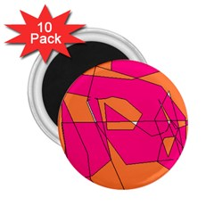 Red Orange 5000 2 25  Button Magnet (10 Pack)